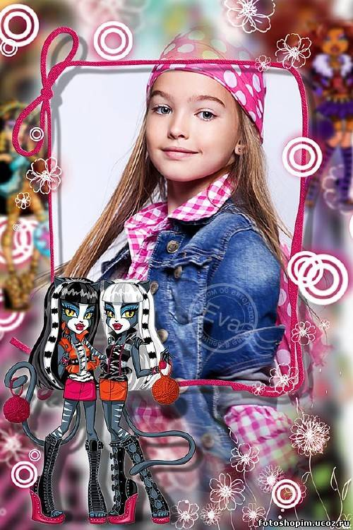 Детская фоторамка куклы монстер хай